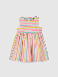 Pembe Kız Bebek Poplin Elbise 0S2586Z1 LC Waikiki