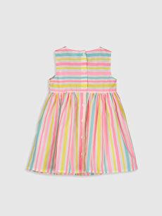 %100 Pamuk  Kız Bebek Poplin Elbise