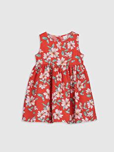 Kırmızı Kız Bebek Poplin Elbise 0S2586Z1 LC Waikiki