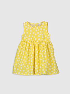Sarı Kız Bebek Poplin Elbise 0S2586Z1 LC Waikiki