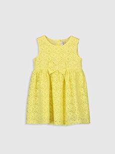 Sarı Kız Bebek Dantelli Elbise 0S2587Z1 LC Waikiki