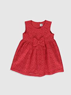 Kırmızı Kız Bebek Dantelli Elbise 0S2587Z1 LC Waikiki