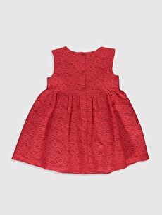 %76 Pamuk %24 Polyester %100 Pamuk Baskılı Kız Bebek Dantelli Elbise