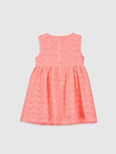 %100 Polyester %100 Pamuk Baskılı Kız Bebek Dantelli Elbise