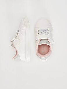 %0 Diğer malzeme (poliüretan) Sneaker Bağcık ve Cırt Cırt Işıksız Polyester Astar Kız Bebek Cırt Cırtlı Günlük Ayakkabı
