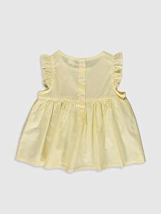 %100 Pamuk Standart Baskılı Kolsuz Bluz Kız Bebek Desenli Bluz