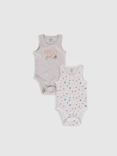 Kız Bebek Baskılı Çıtçıtlı Body 2'li