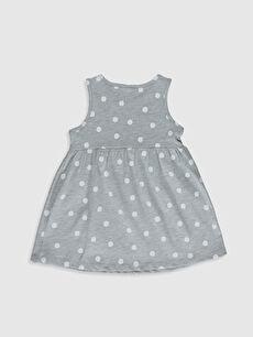 %51 Pamuk %49 Polyester Baskılı Kız Bebek Desenli Elbise