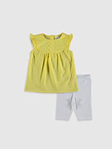 Kız Bebek Tişört ve Tayt 2'li