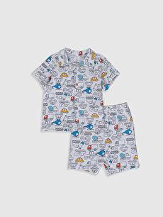 Erkek Bebek Baskılı Pamuklu Pijama Takımı