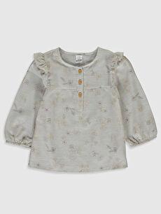 Kız Bebek Desenli Bluz