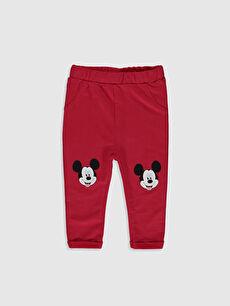 Erkek Bebek Erkek Bebek Mickey Mouse Baskılı Tayt 2'li