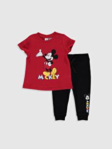 Erkek Bebek Mickey Mouse Baskılı Takım