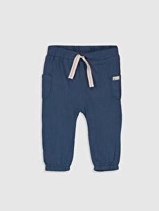 İndigo Erkek Bebek  Poplin Pantolon 0S6838Z1 LC Waikiki