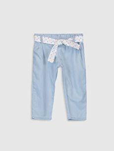 İndigo Kız Bebek Harem Jean Pantolon ve Kemer 0S7788Z1 LC Waikiki