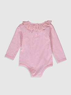 %94 Pamuk %6 Elastan  Kız Bebek Çıtçıtlı Body