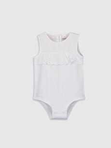 Ekru Kız Bebek Çıtçıtlı Body 0S8707Z1 LC Waikiki
