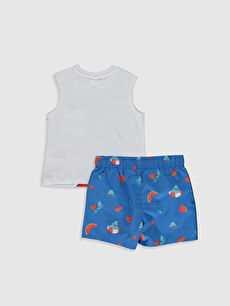 %100 Pamuk %100 Polyester %100 Polyester  Erkek Bebek Baskılı Yüzme Takım