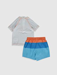 %80 Polyester %20 Elastan %100 Polyester %100 Polyester  Erkek Bebek Baskılı Yüzme Takım