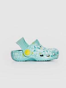 Mavi Kız Bebek Çiçek Baskılı Sandalet 0SH200Z1 LC Waikiki