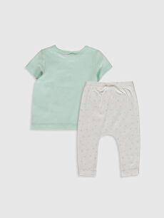 %96 Pamuk %4 Elastan  Organik Pamuklu Kız Bebek Tişört ve Pantolon
