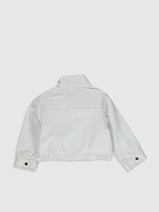 %100 Pamuk Günlük Gabardin Ceket Kız Bebek Gabardin Ceket