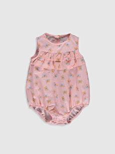 Kız Bebek Desenli Çıtçıtlı Body