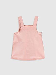 %98 Pamuk %2 Elastan Düz Saten Standart Günlük Elbise Kız Bebek Elbise