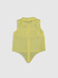 %100 Pamuk Standart Düz Kolsuz Bluz Kız Bebek Fırfırlı Bluz