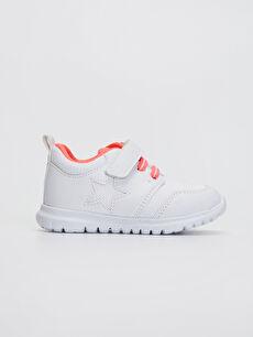 Beyaz Kız Bebek Cırt Cırtlı Aktif Spor Ayakkabı 0SA145Z1 LC Waikiki
