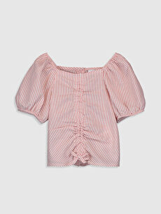 Pembe Kız Bebek Çizgili Bluz 0SA619Z1 LC Waikiki