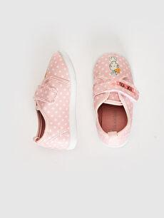 Pembe Kız Bebek Cırt Cırtlı Bez Günlük Spor Ayakkabı 0SC025Z1 LC Waikiki