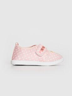 Kız Bebek Cırt Cırtlı Bez Günlük Spor Ayakkabı