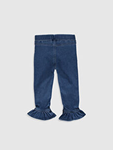 %90 Pamuk %7 Poliester %3 Elastan Standart Normal Bel Kız Bebek Jean Pantolon