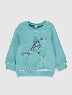 Kız Bebek Baskılı Sweatshirt