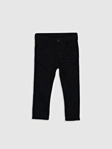 Siyah Erkek Bebek Skınny Gabardin Pantolon 0SD844Z1 LC Waikiki