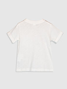 %100 Pamuk Normal Baskılı Kısa Kol Tişört Bisiklet Yaka Erkek Bebek Pamuklu Tişört