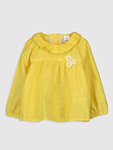 Sarı Kız Bebek Pamuklu Bluz 0SE044Z1 LC Waikiki