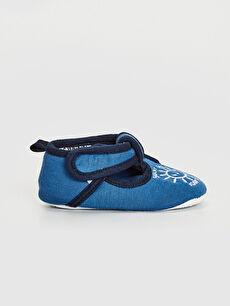 %0 Tekstil malzemeleri(%100 pamuk)  Erkek Bebek Cırt Cırtlı Bez Yürüme Öncesi Ayakkabı