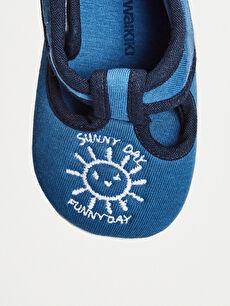 LC Waikiki Mavi Erkek Bebek Cırt Cırtlı Bez Yürüme Öncesi Ayakkabı
