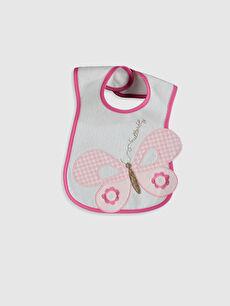 Kız Bebek Baskılı Mama Önlüğü