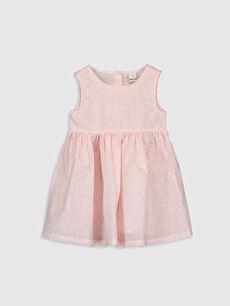 Pembe Kız Bebek Baskılı Elbise 0SQ098Z1 LC Waikiki