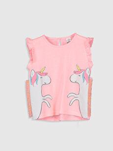 Kız Bebek Unicorn Desenli Tişört