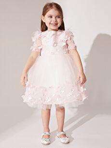 Pembe Daisy Girl Kız Bebek Kelebek Detaylı Abiye Elbise 0SS861Z4 LC Waikiki