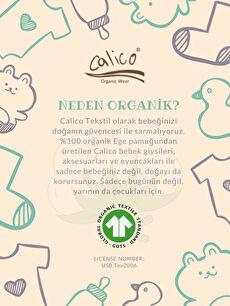 Kız Bebek Calico Organik Pamuklu Baskılı Tulum