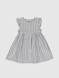 Kız Bebek Çizgili Pamuklu Elbise