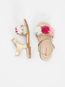 Kız Bebek Deri Görünümlü Sandalet