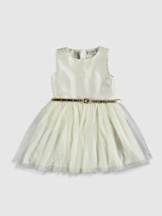 Kız Çocuk Tüllü Elbise ve Kemer