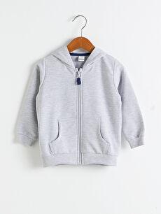 Erkek Bebek Fermuarlı Sweatshirt