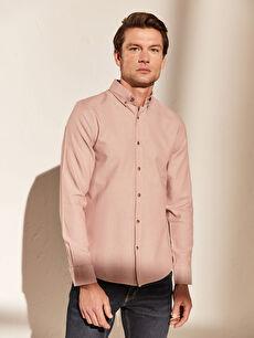 Slim Fit Long Sleeve Oxford Men Shirt